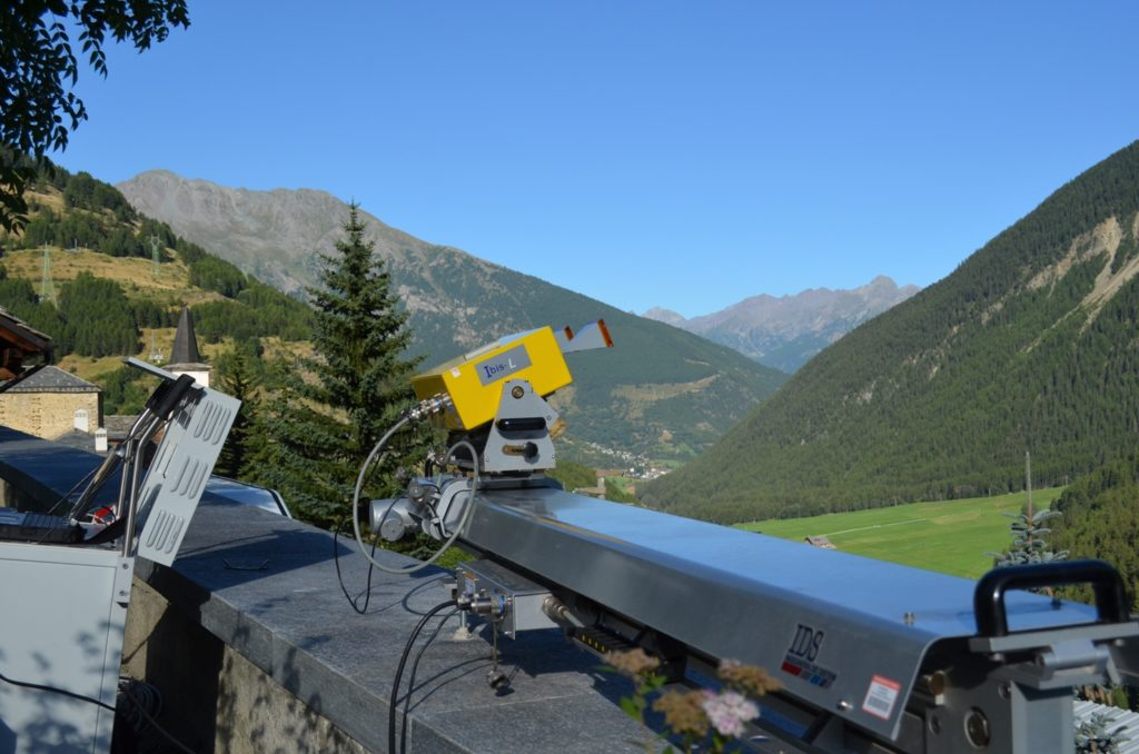 Comba Citrin landslide monitoring by ground-based radar interferometry